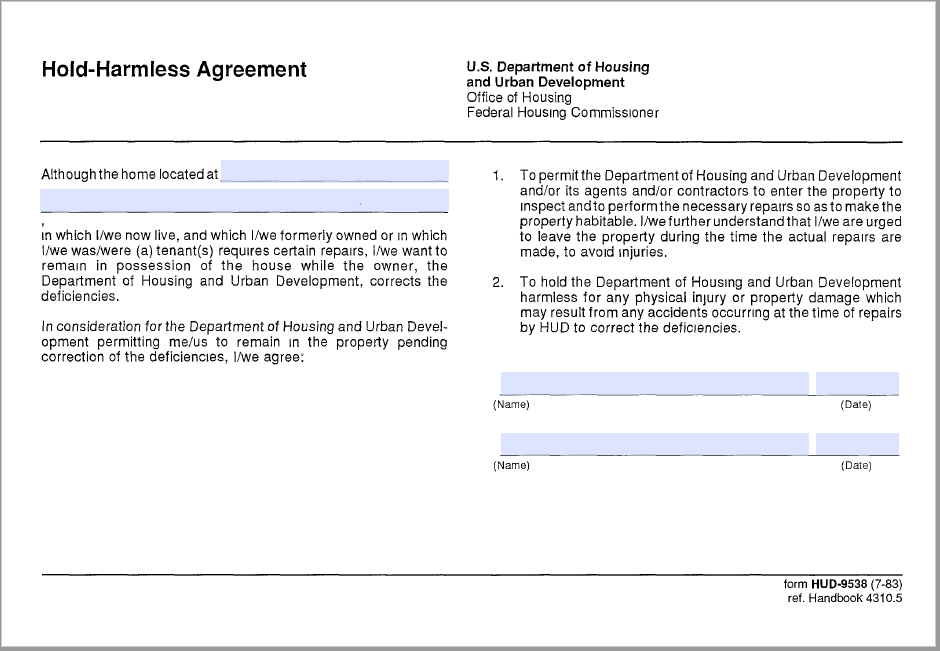 43 Free Hold Harmless Agreement Templates Ms Word And Pdfs