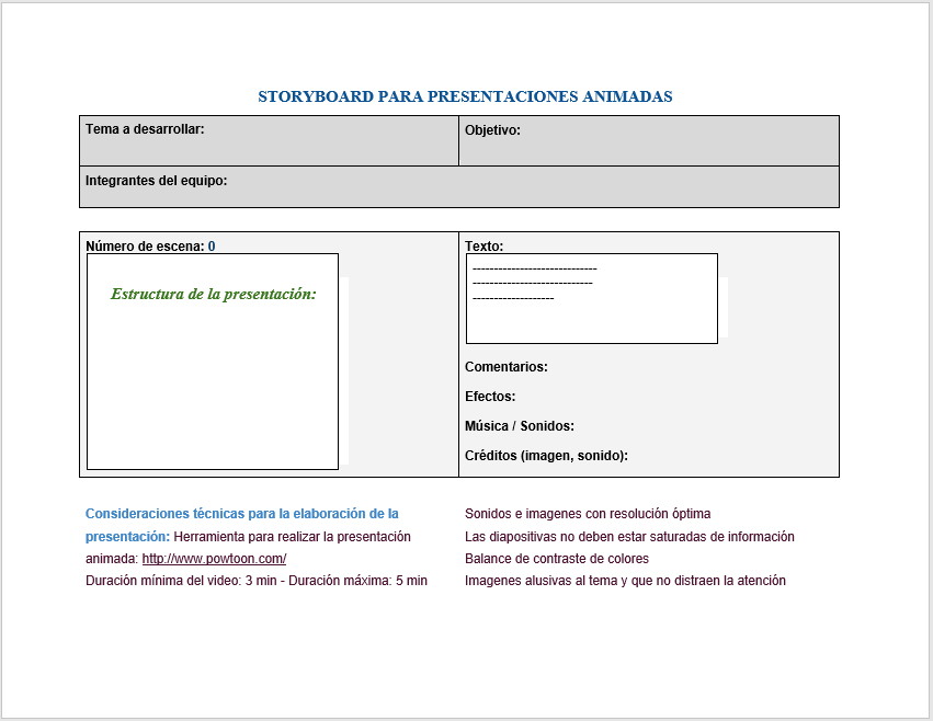 38 Free Storyboard Templates Ms Word Ms Powerpoint