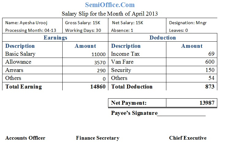 50+ Salary Slip Templates for Free (Excel and Word ...
