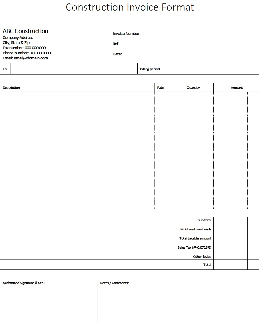 Construction Invoice Example from www.templatehub.org