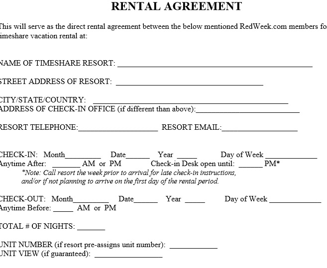 40 Free Rental Agreement Templates Samples Templatehub