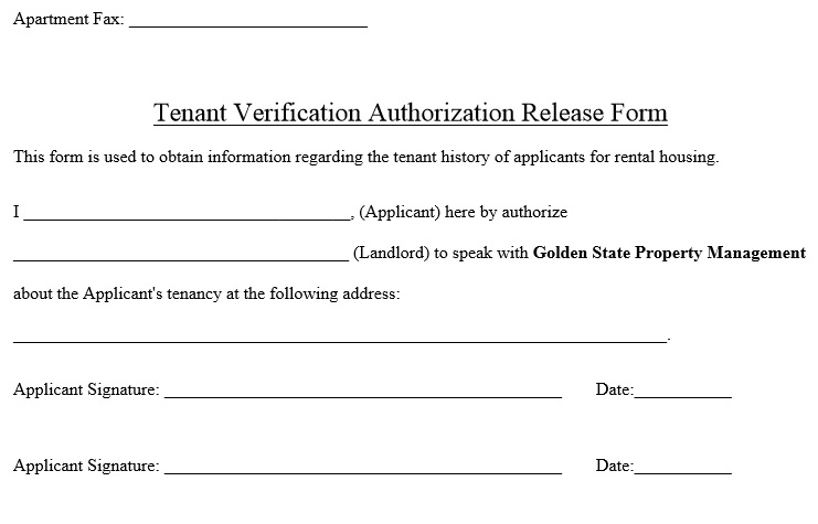 45 Free Tenant Verification Forms Pdf And Ms Word