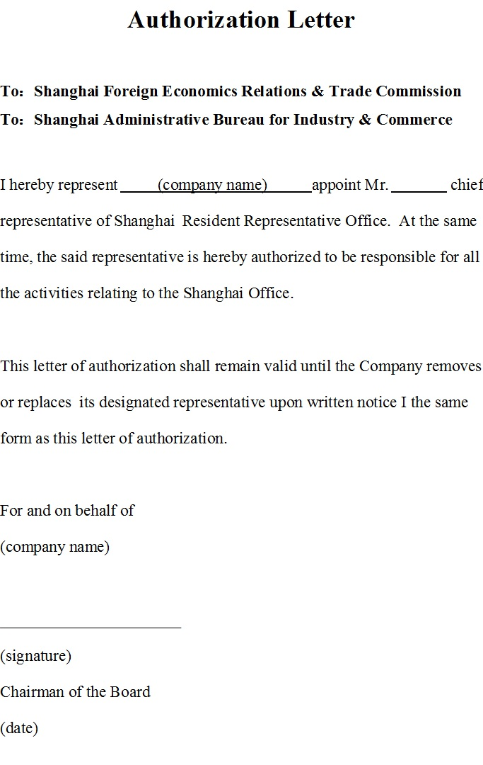 Sample Letter Of Authorization To Represent from www.templatehub.org