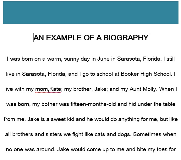 Biography Template 1