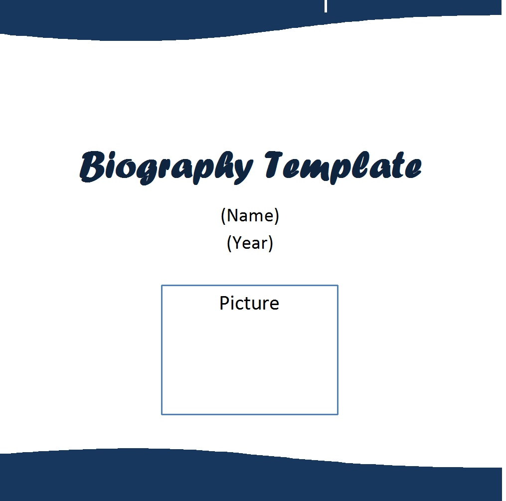 Biography Template 2