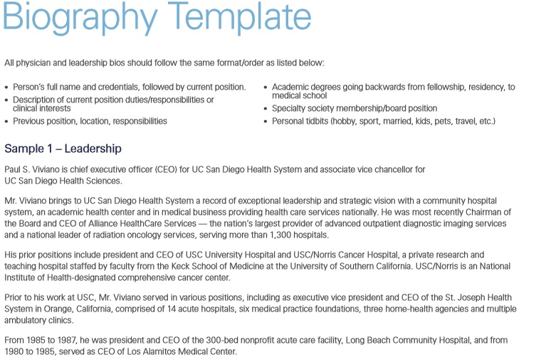 55 Free Biography Templates Templatehub