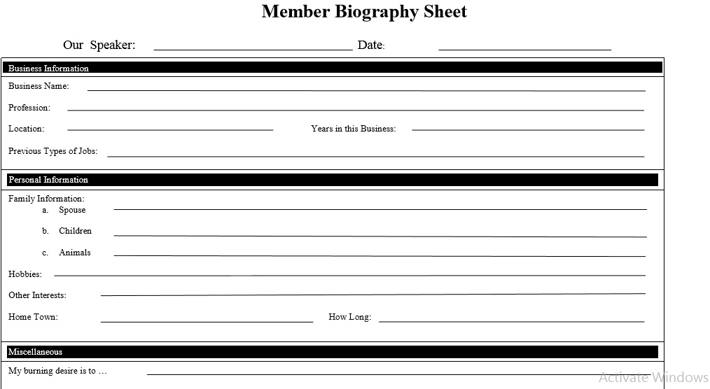 Biography Template 36