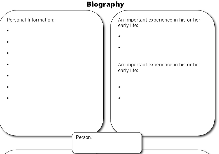 Biography Template 43