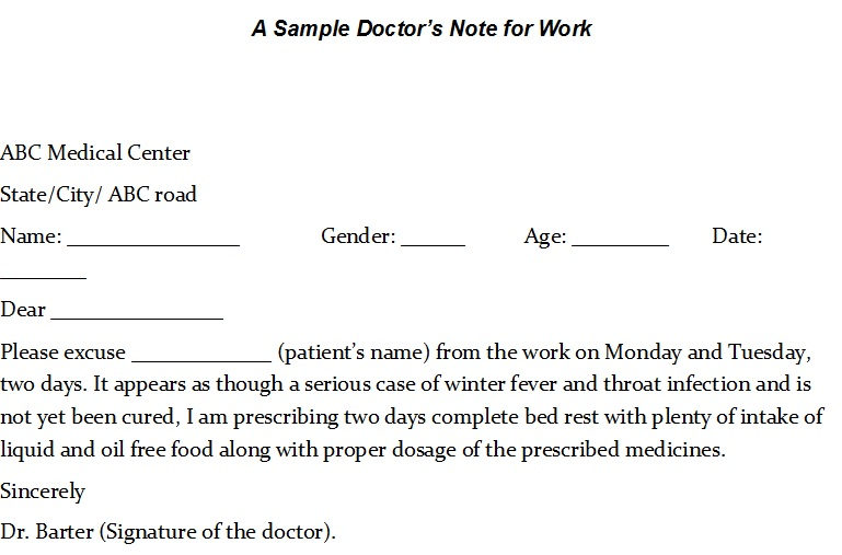 40 Free Sample Doctor Notes Templates Templatehub