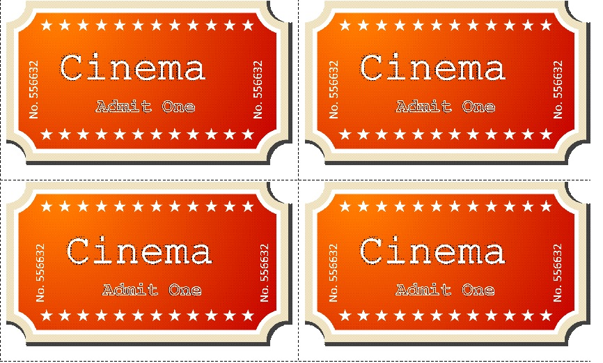 Movie ticket Templates 1