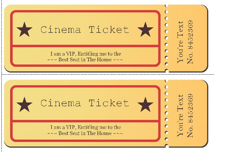Movie ticket Templates 3