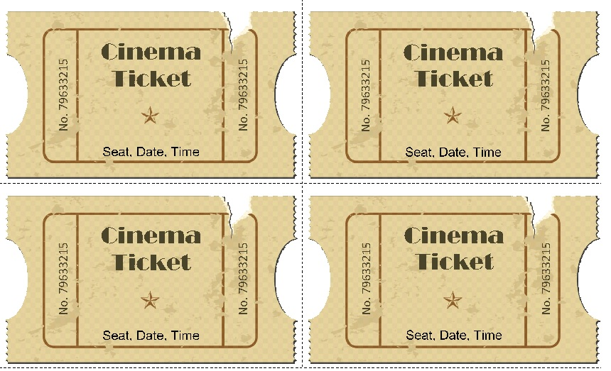 Movie ticket Templates 5