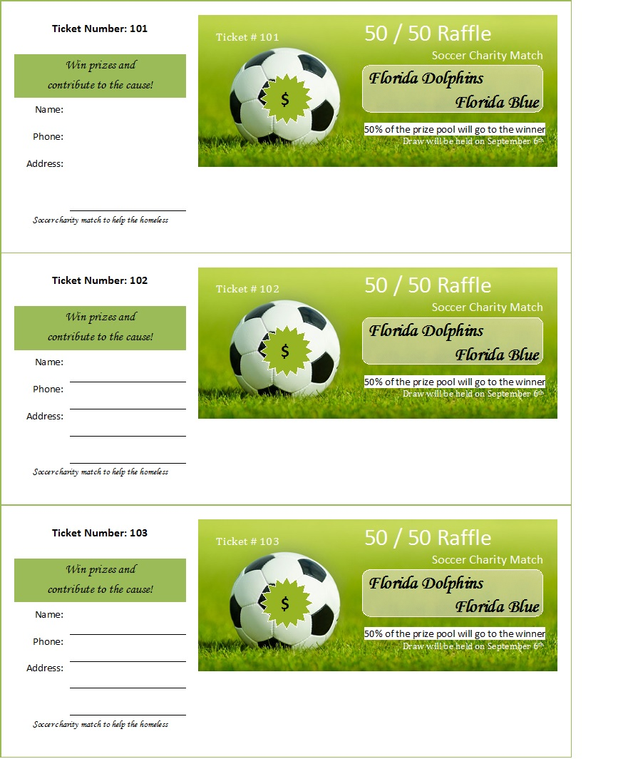 Raffle Ticket Templates 1