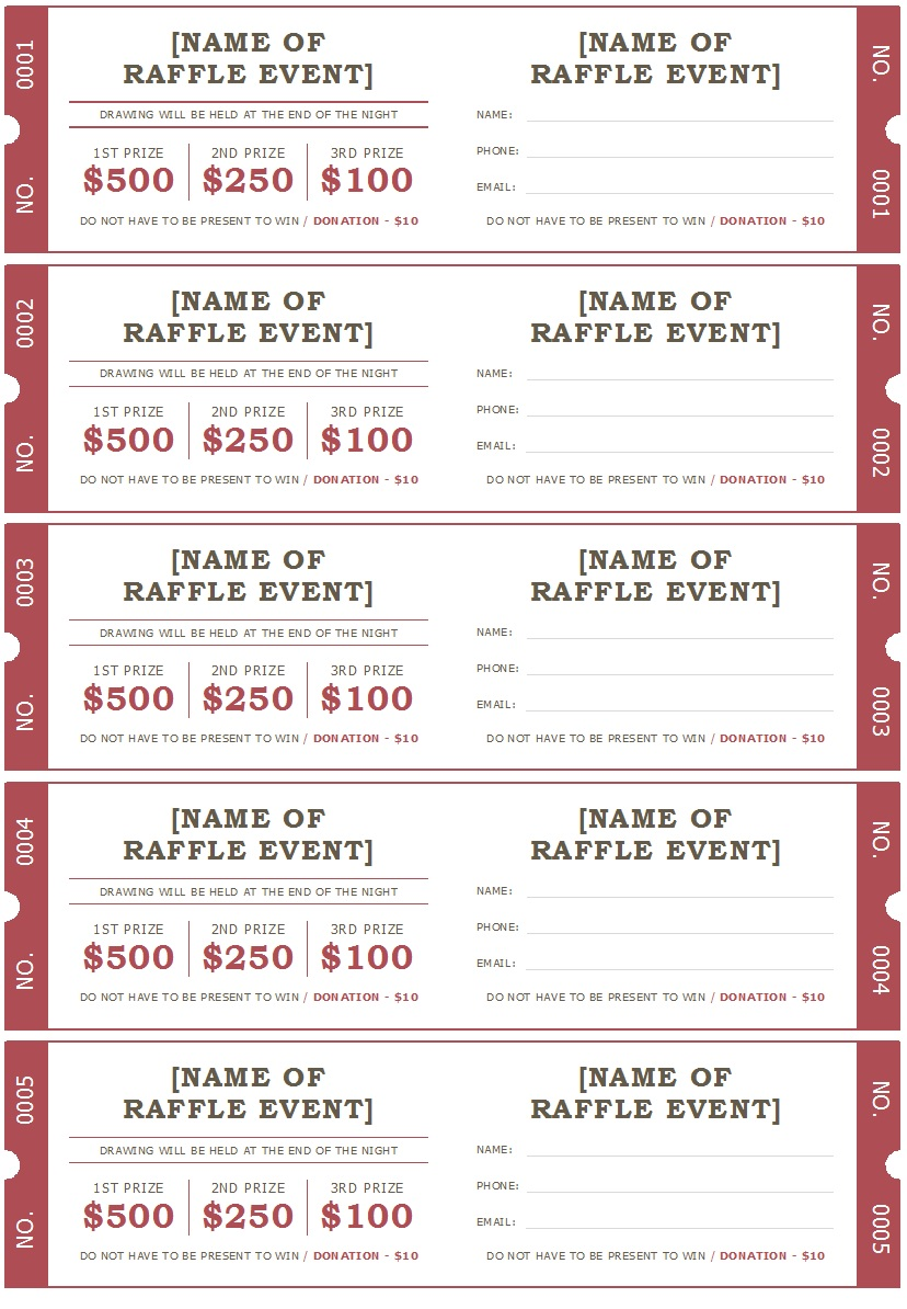 Raffle Ticket Templates 10