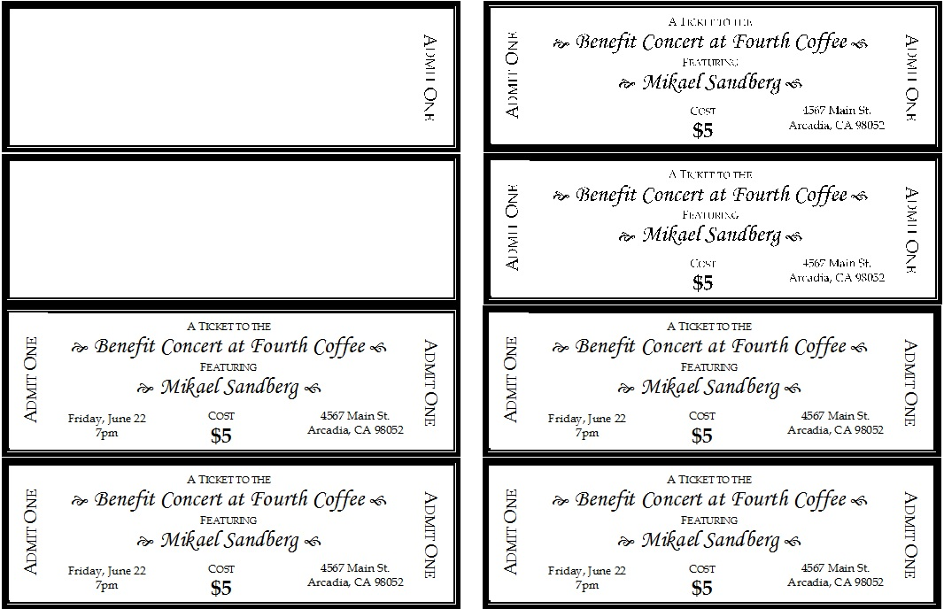 Raffle Ticket Templates 11