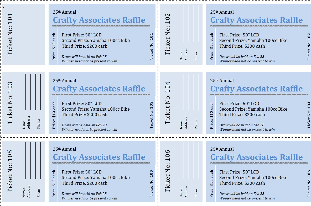 Raffle Ticket Templates 16