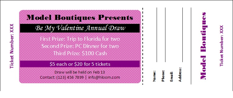 Raffle Ticket Templates 20