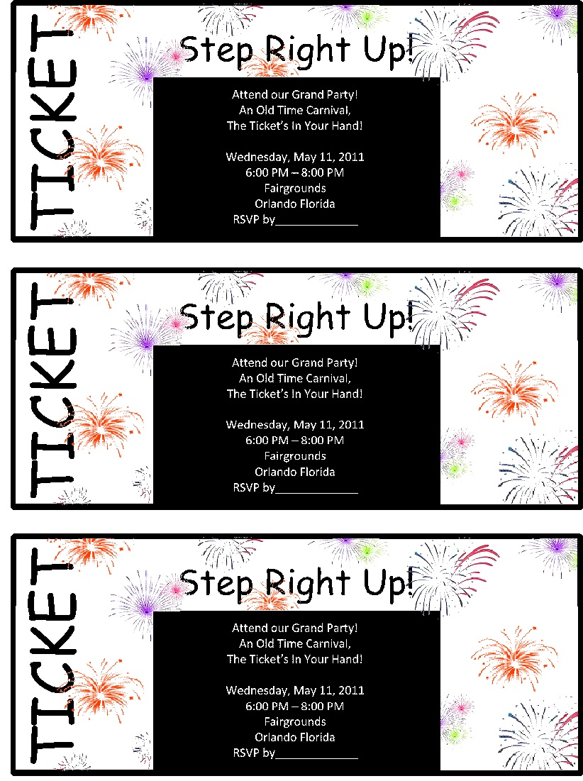 Raffle Ticket Templates 21