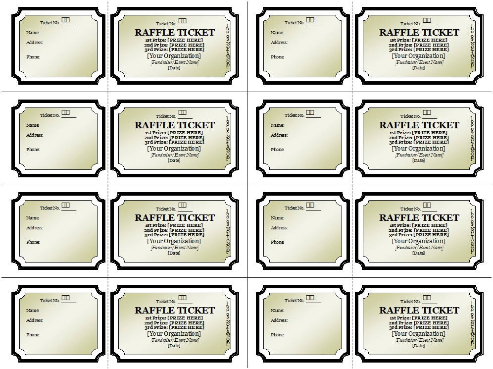 Raffle Ticket Templates 26