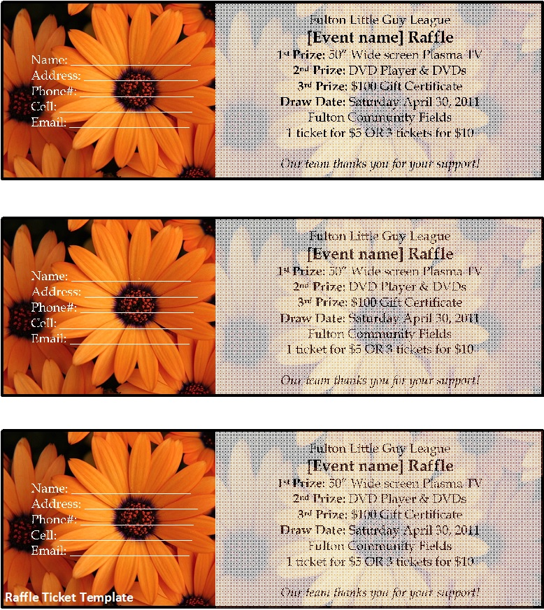 Raffle Ticket Templates 30