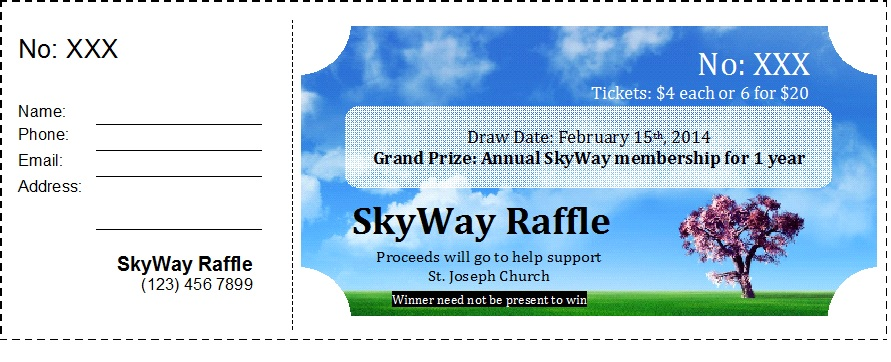 Raffle Ticket Templates 33