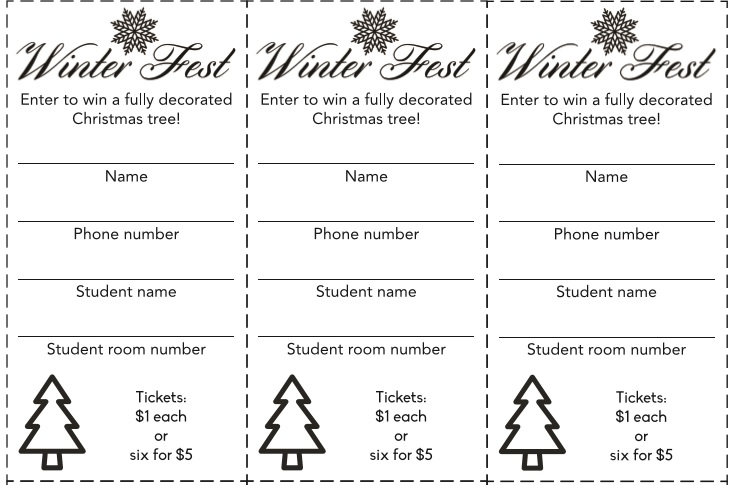 Raffle Ticket Templates 36