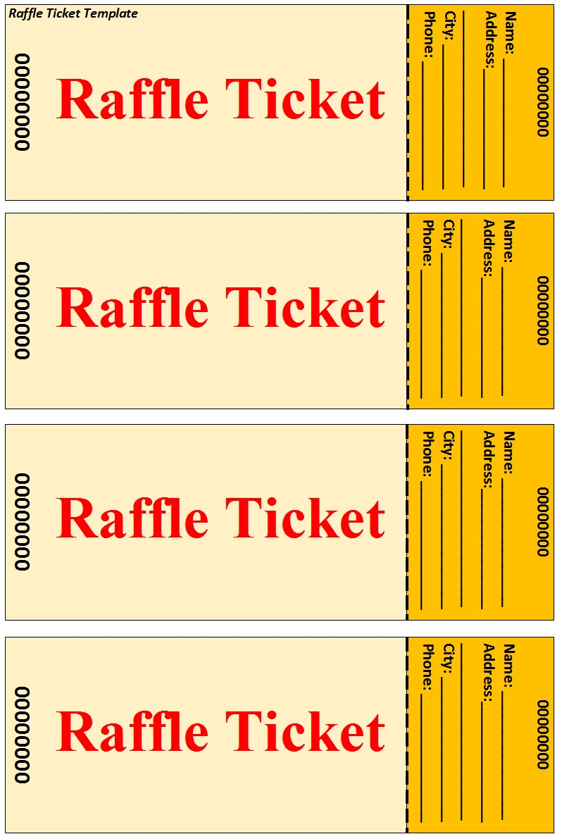 Raffle Ticket Templates 38