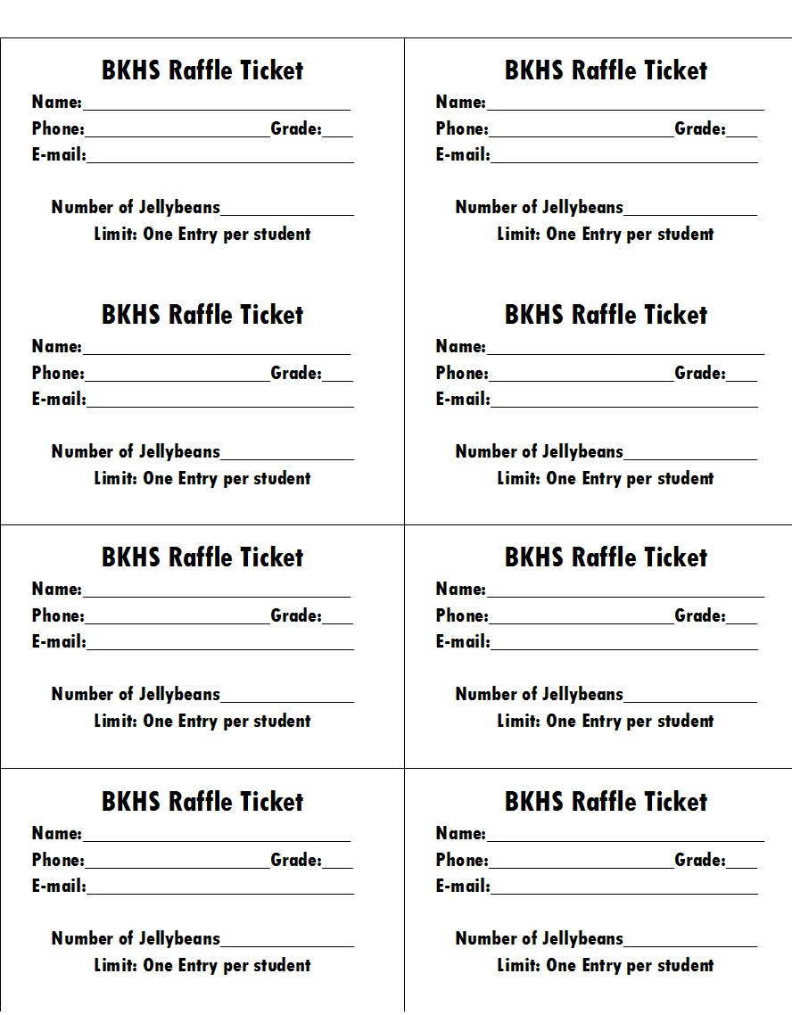 Raffle Ticket Templates 41