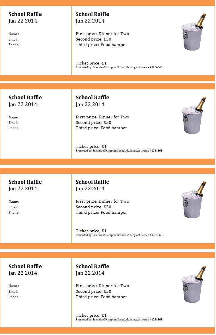 Raffle Ticket Templates 42