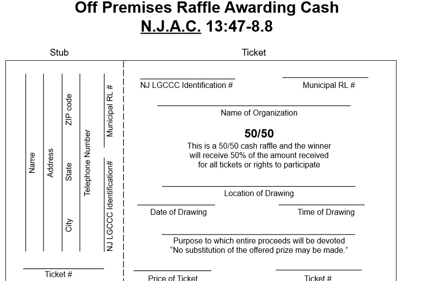 Raffle Ticket Templates 43