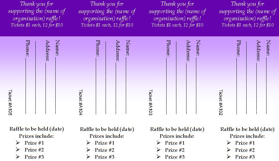 Raffle Ticket Templates 5