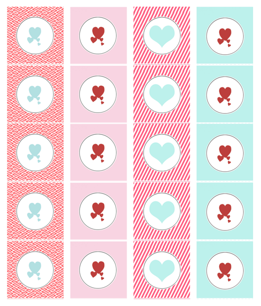 Heart Label Template 01