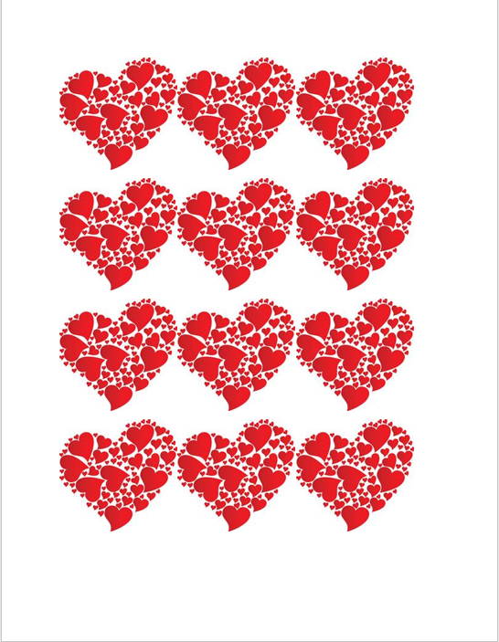 Heart Shape Template 04