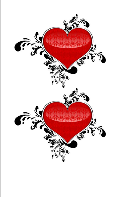 Heart Shape Template 07