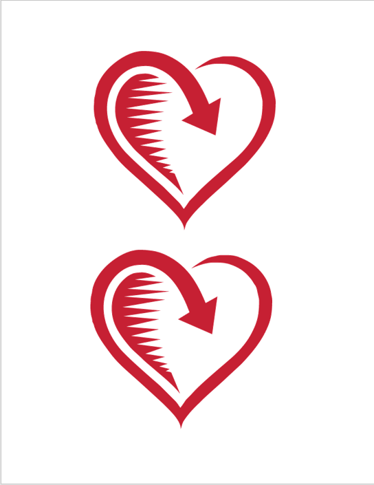 Heart Shape Template 08