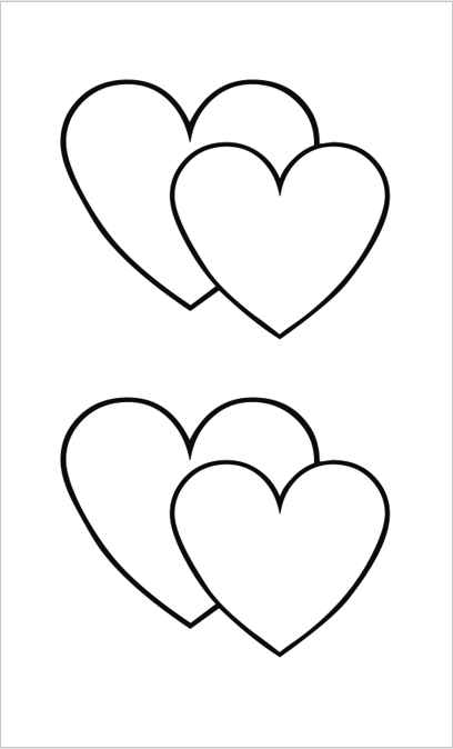 Heart Shape Template 09