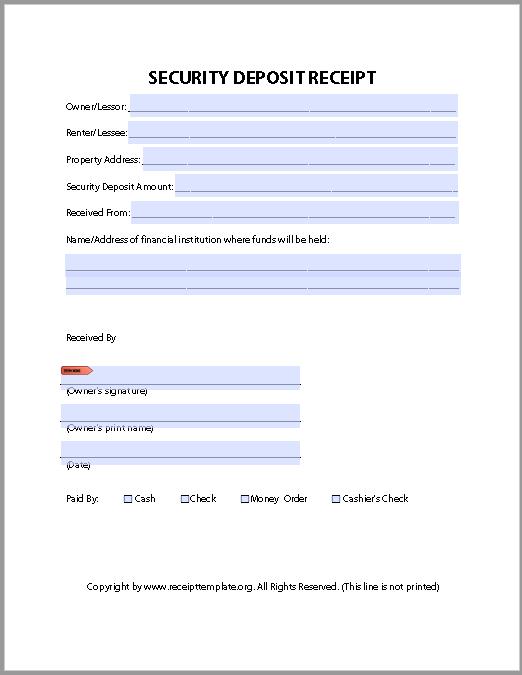 Deposit Receipt Template 03
