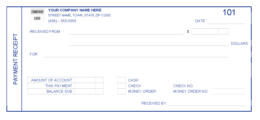 Printable Receipt Template 02
