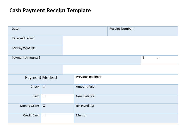 Printable Receipt Template 09