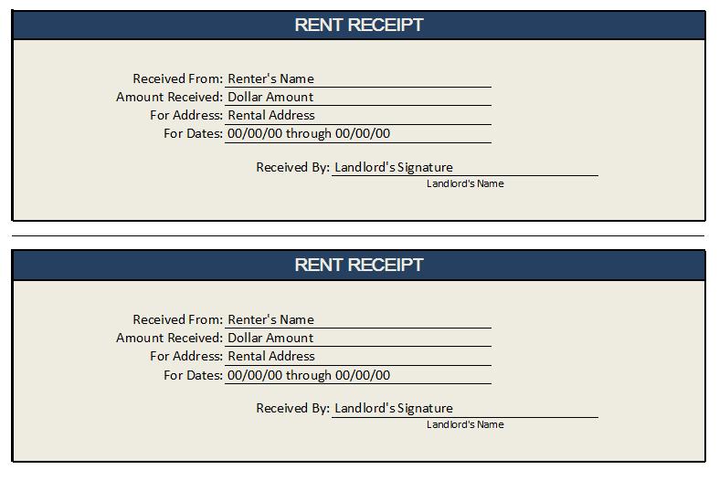 Rent Receipt Template 02