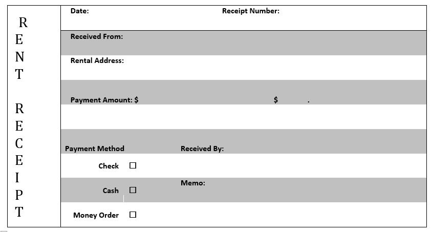 Rent Receipt Template 03
