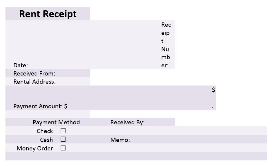 Rent Receipt Template 05
