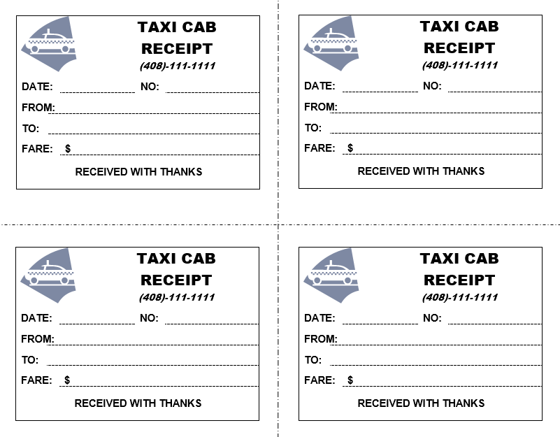 It is an image of Juicy Printable Taxi Receipts