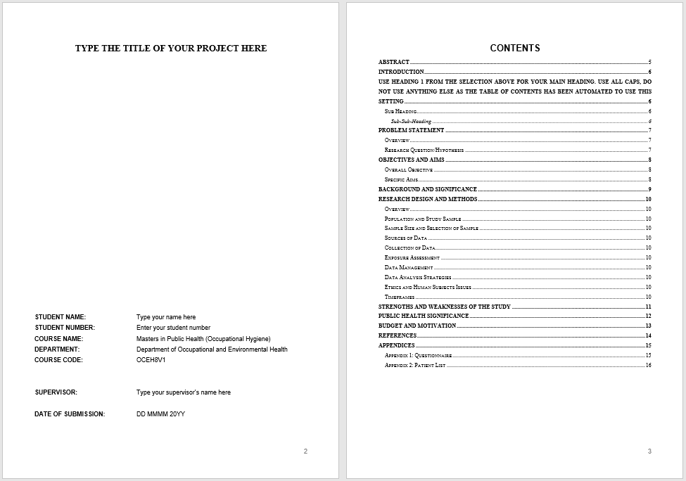 research proposal template 14