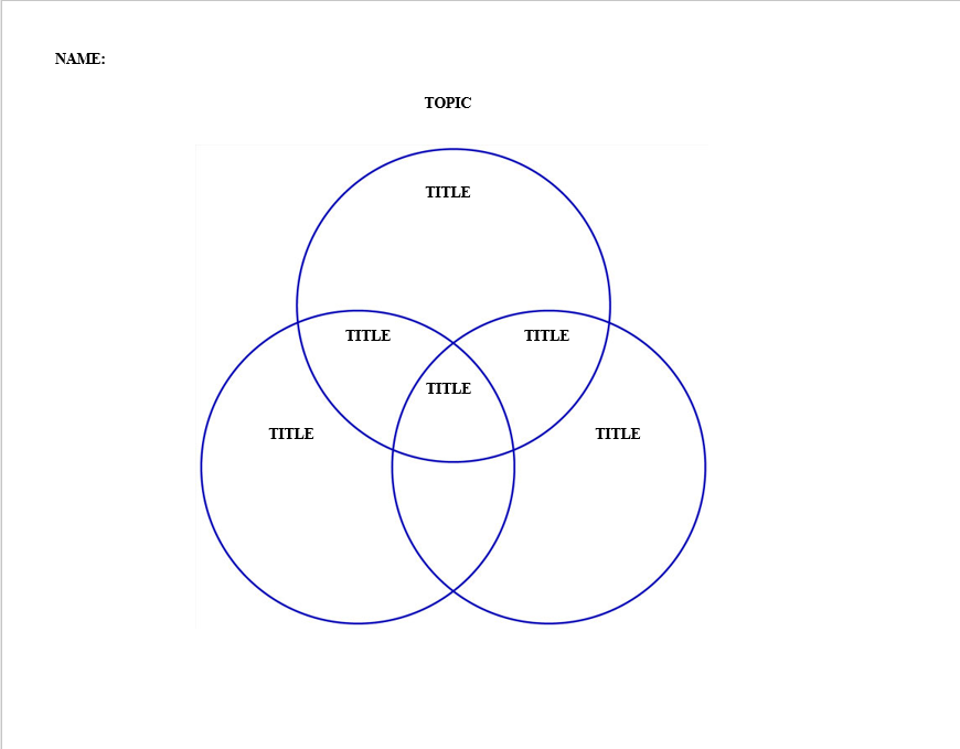Venn Diagram Template 11
