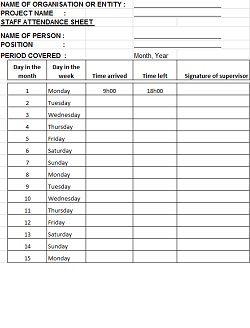 42 Free Attendance Sheet Templates Templatehub