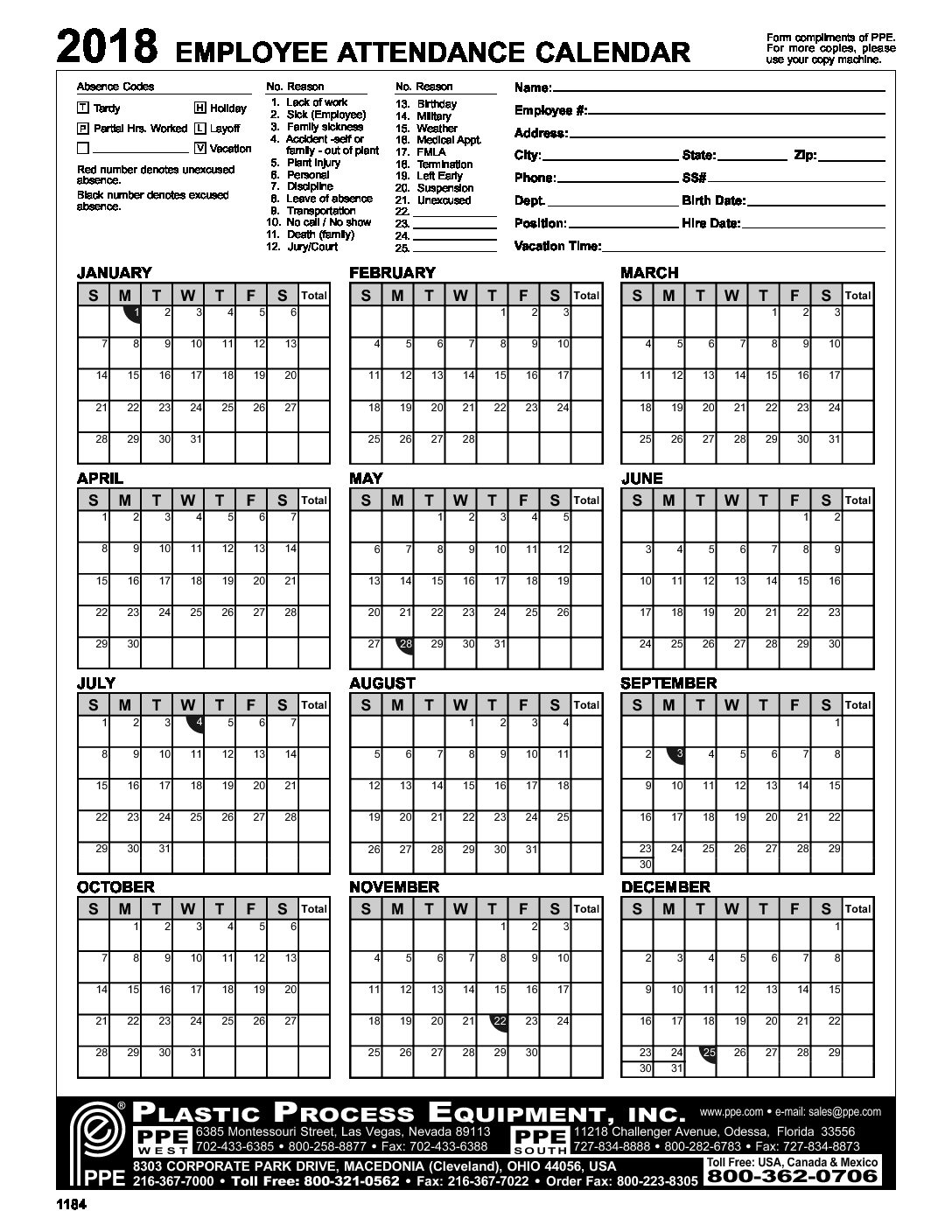 Monthly Attendance Sheet Pdf from www.templatehub.org