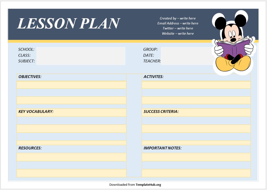 Lesson Plan Template 49