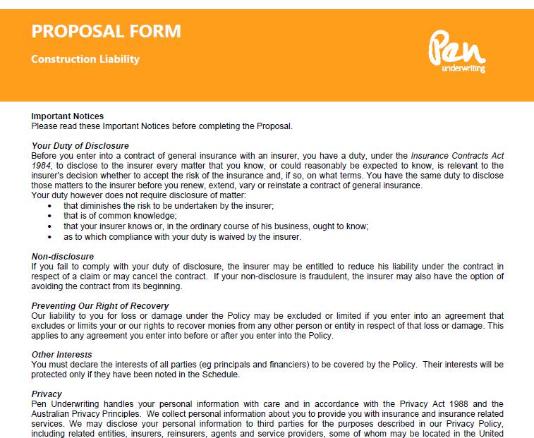 Construction Proposal Templates Templatehub