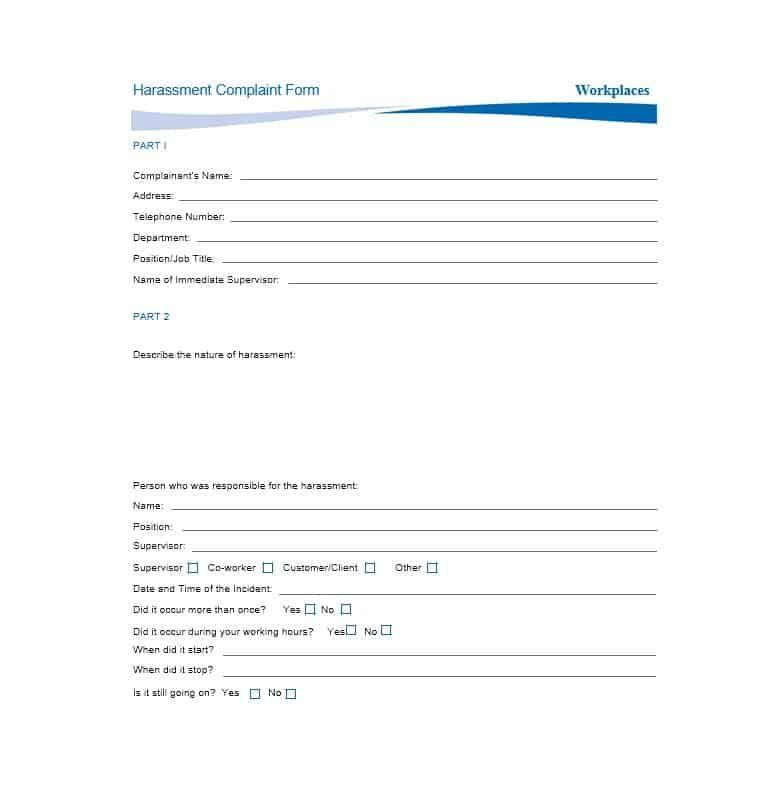 Employee Complaint Form 02